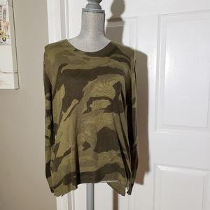VICI wool blend camo sweater